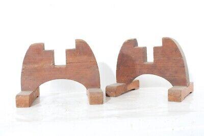 2x Alter Ständer Holz Holzständer Füße Old Vintage Antik Eine GroßE Auswahl An Farben Und Designs