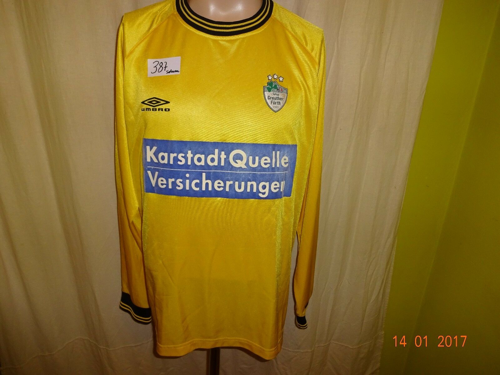 SpVgg Greuther Fürth umbro umbro umbro Langarm Matchworn Trikot 2004 05 +  Nr.16 Gr.XL  | Elegantes Aussehen  8dc693