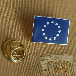Europa-EU-rechteckig-Pin-Anstecker-Anstecknadel-Flaggenpin-Button-Badge-NEU