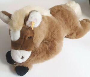 "Steiff Plush Horse Stuffed Animal Mare Niki 101809 Brown Rare & Big Toy 25"" L"