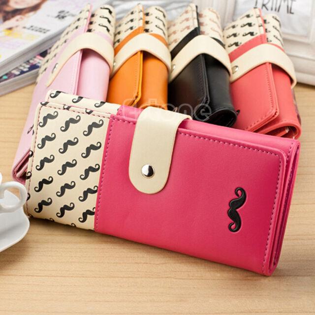 Hot New Women PU Leather Purse Long Clutch Cute Button Wallet Bag Card Holder