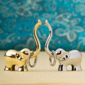 245ff08e82b7 Details about 48 Gold And Silver Lucky Elephant Ring Holder Wedding Bridal  Shower Party Favors