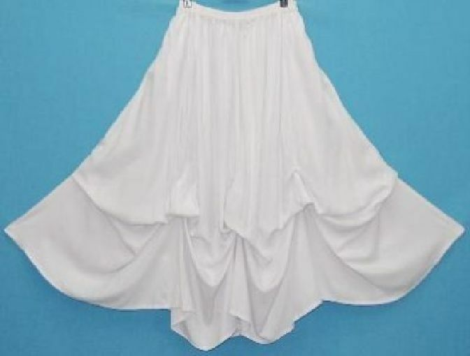 White full maxi skirt balloon lagenlook OS M L XL 1X 2X 3X 4X 5X 6X