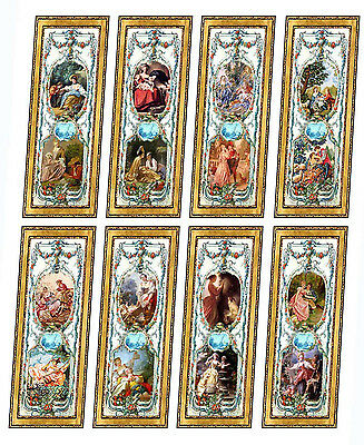 Dolls House Victorian Wall Panels choose from 1//12th or 1//24th scale #48
