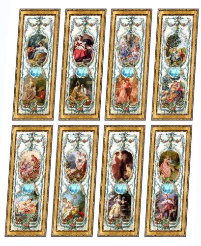 Casa De Muñecas Estilo Victoriano de paneles de pared elegir 1//12th o 1//24th Escala # 45