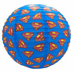 Officiel-Superman-Logo-Papier-Abat-jour-Lampe-Plafond-spherique-30-cm-DC-Comics