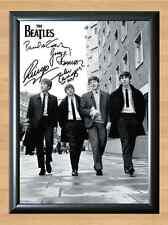 The Beatles John Lennon Paul McCartney Signed Autographed A4 Print Poster Photo
