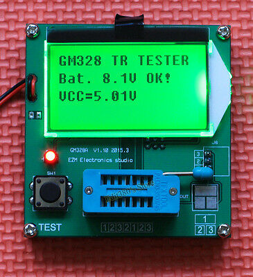 LCD Electronic Compenent Value Tester Transistor Diode Triode Capacitance Meter