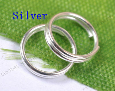 100pcs Silver Jump Rings Open Connectors Jewelry Make Findings 5MM