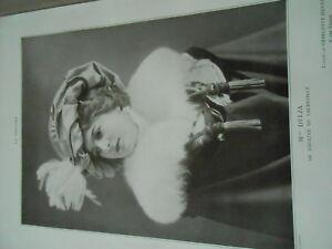 Portrait Actrice Théatre Mlle Delza Du Vaudeville 1908