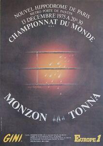 """""""CHAMPIONNAT DU MONDE DE BOXE 1975"""" Affiche originale entoilée de CASTIGLIONI y3hIhqhy-07141125-970731646"""