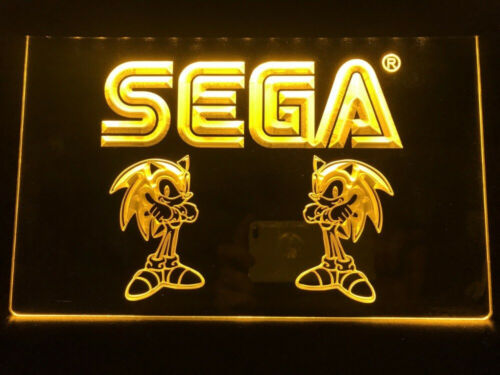 Sega game room club dekor LED sign 3D Neonzeichen Leuchtschild Leuchte