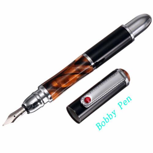 Old Stock FuliWen Aryllic Metal Fountain Pen M Nib Converter Pen