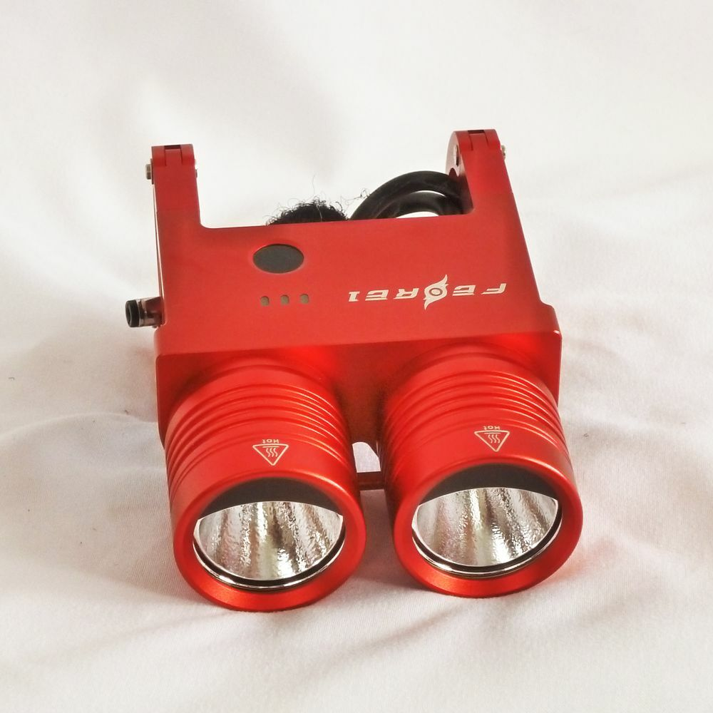 Ferei-Red BL200 Super-Bright Bicycle Biking Flashlight &  Torch Two Cree XM-L  hottest new styles