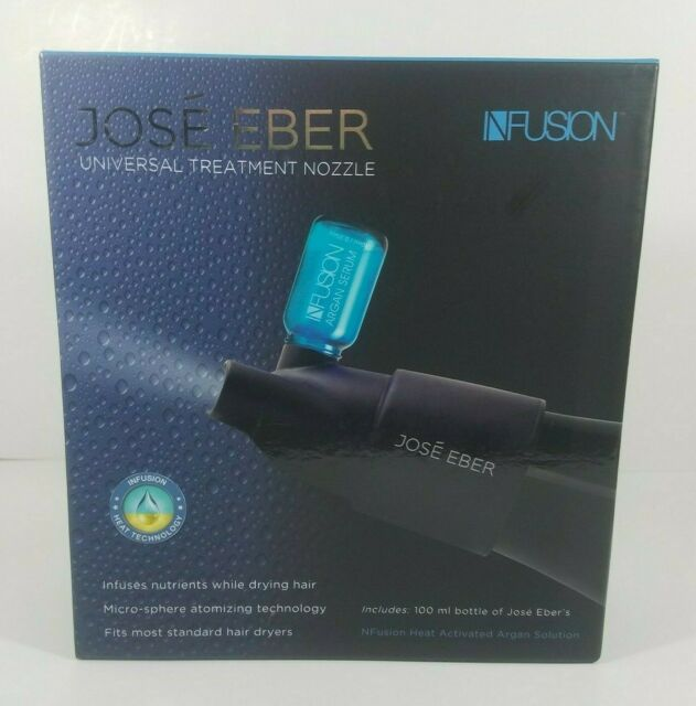 NEW Jose Eber Infusion Hair Dryer Treatment Nozzle Includes 100 ml Argan Serum