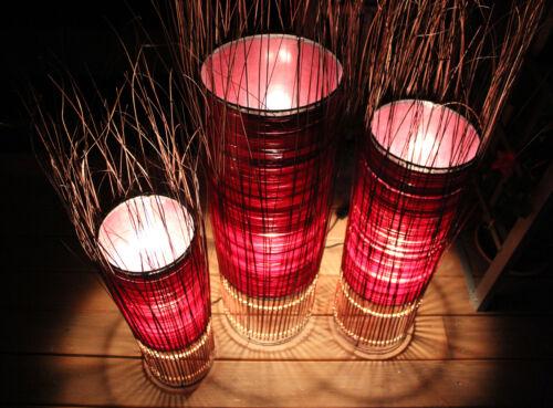 LESTARIE Stehlampe Bodenlampe Stehleuchte Deko Lampe verschiedene Größen rot