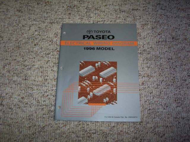 1996 Toyota Paseo Electrical Wiring Diagram Manual Coupe 1