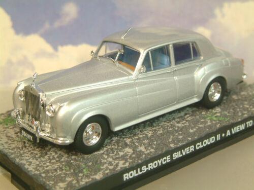 De Metal 1//43 James Bond 007 Rolls-Royce Silver Cloud II Plata a View To a Matar