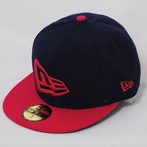 Details about New Era 59fifty Flag Flat Peak Fitted Navy Blue Rose Pink Hat  Cap 04c1c0b3a9b