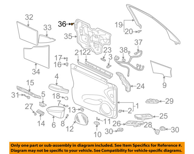 Cadillac GM OEM DeVille Interior-Rear Door-Water Deflector Retainer 25646858
