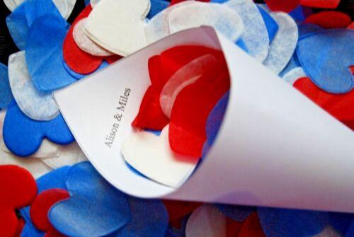 a forma di cuore. ENGLISH Biodegradabile Confetti Per Matrimoni e Feste