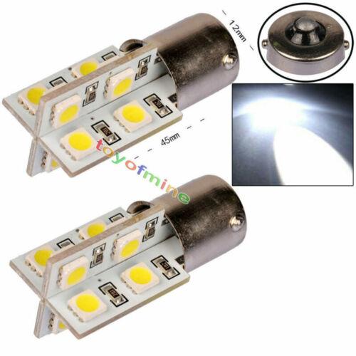 2Pcs White 1156 BA15S 16 SMD LED Canbus Free No Error Turn Backup Light Bulb 12V