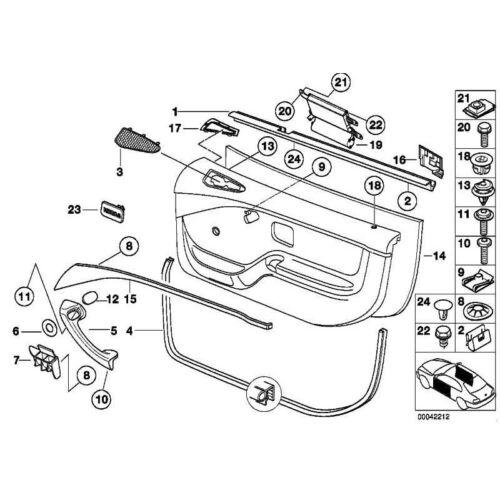Original BMW 51418397540 Blende Lautsprecher rechts Z3
