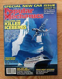 Popular-Mechanics-October-1993-039-94-Cars-Icebergs-Widescreen-TV-YMF-5-Knives