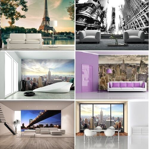 Wall mural wallpapers for bedroom & living room CITYSCAPES decoration CITIES ART