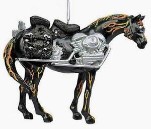Rare 2003 Retired Trail of Painted Ponies Motorcycle Mustang Ornament #1495