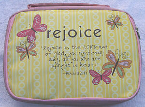 Pale-Powder-Pink-Bible-case-book-cover-Organiser-Bag-Rejoice-Silk-Screen-Design