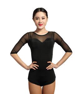 SCGGINTTANZ G1016 latin ballroom modern dance professional backless swing cloak tops leotard