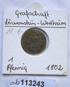 1-Pfennig-Kupfer-Muenze-Grafschaft-Loewenstein-Wertheim-1802-113243