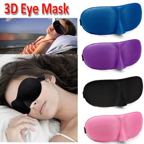 3D EYE MASK TRAVEL SLEEPING SOFT COVER SHADE BLINDFOLD SPONGE PATCH 5X 3X 2X 1X