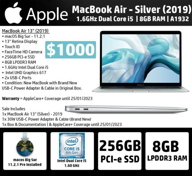 "Apple MacBook Air 13"" | 2019 | 1.6GHz i5 | 8GB RAM | A1932 | 2 Years AppleCare+"
