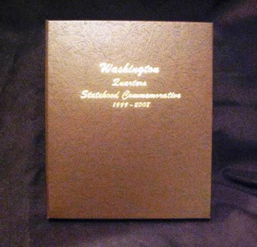 1999-2009 COMPLETE STATE /& TERR QUARTER SET 112 P/&D BU COINS IN A DANSCO ALBUM
