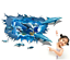 3D-Dolphin-Vinyl-Home-Room-Decor-Art-Wall-Decal-Sticker-Bedroom-Removable-Mural thumbnail 3