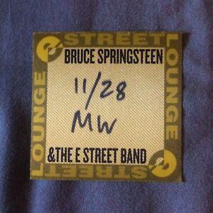 BRUCE-SPRINGSTEEN-E-Street-Band-MILANO-2007-original-promo-pass-satin-MINT