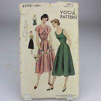 Vintage Vogue Sewing Patterns 1950's    6990 Size 14  1950