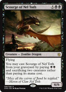 Scourge Of Nel Toth Nm Mtg Commander Anthology Black Zombie Dragon