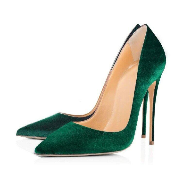 Printemps Nouveau Femmes Escarpins Talons Stilettos Talons Compensés à bout pointu à Enfiler Fête Chaussures UK