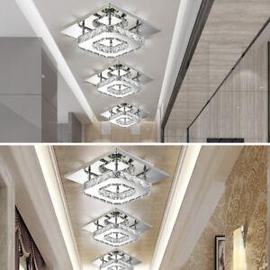 Soggiorno-plafoniera-lampada-ingresso-chandelier-soffitto-luce-LED-cristallo
