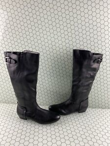 ALDO 'Becki' Black Leather Side Zip