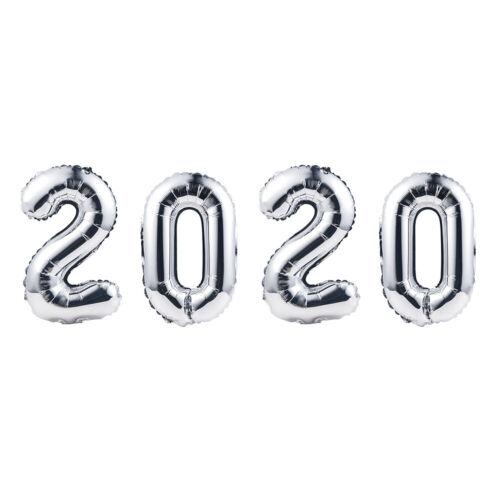 "2020 Happy New Year Party Props 4pcs Aluminum Foil Balloon DIY Home Decor 16/"""