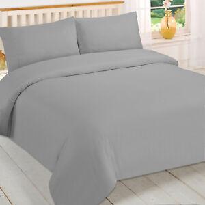 Brentfords-Plain-Grey-Duvet-Cover-and-Pillowcase-Bedding-Set-Single-Double-King