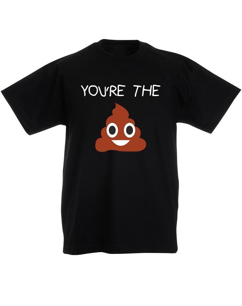 You/'re The Poo Emoji Kids Printed T-Shirt