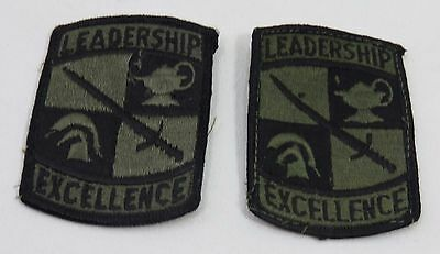 US Army Leadership Excellence Military Patch set  USAR Reserve Officer Training