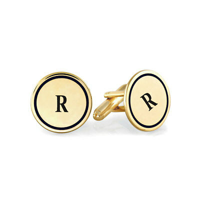 Initials Sterling Silver or 14k Yellow Gold Plated Cufflinks Customize it with Your Letter 3-5 DAYS DELIVERY WITH FedEx Mens Gift Personalized Name Cufflinks Gift for Dad