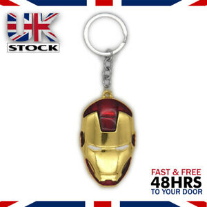 Marvel-Avengers-Iron-Man-Hulk-Captain-America-Silver-Keyring-Keychain-Gift-Bag