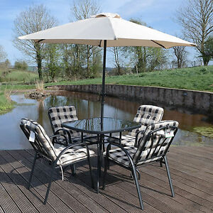 Image Is Loading 4 Seater Garden Patio Furniture Set Outdoor Table
